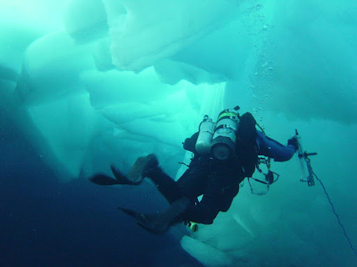 ice diving in Alaska with Test the Waters Dive Center