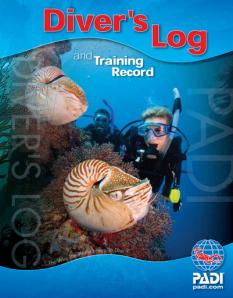 PADI blue logbook