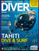 Sport Diver cover: scuba dive and surf in Tahiti