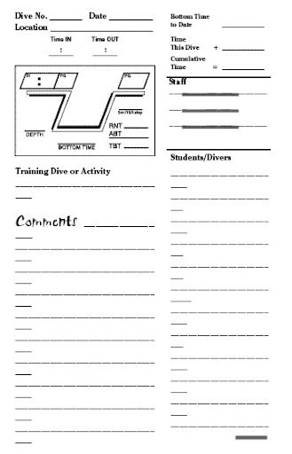 teaching and supervising log pages