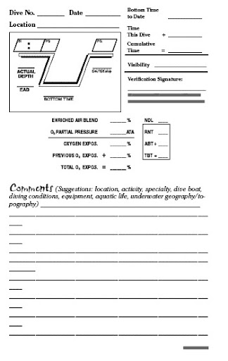 enriched air logbook pages