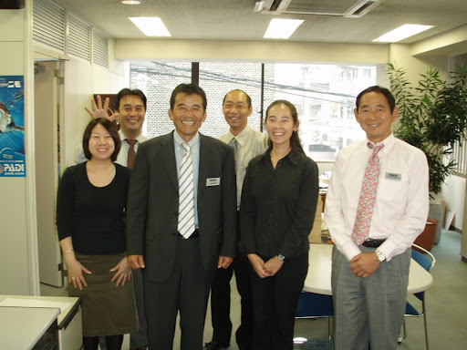 Me with the nice people at PADI Japan