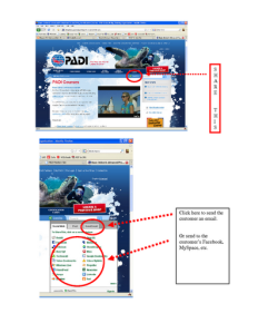 graphic of how to use Share This on padi.com to send an email