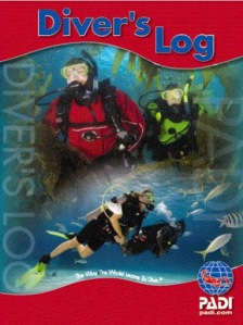 PADI red diver's logbook, product number 70048 revised 2009