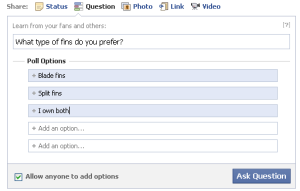 how to use Facebook Questions