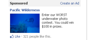 sample facebook ad for scuba diving