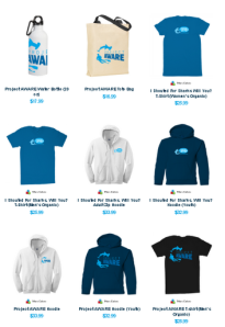 Project AWARE merchandise from online store