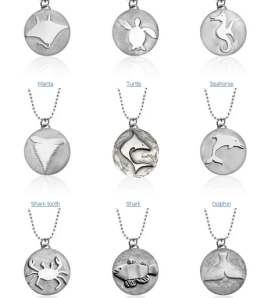 ocean-themed necklaces