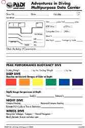 PADI Adventures in Diving Advanced Open Water slate