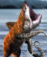 bear shark octopus