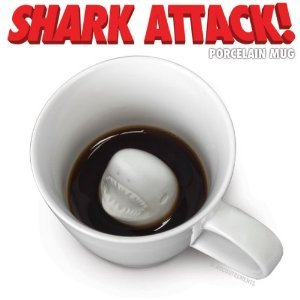 Coffee Cup with Shark in the bottom