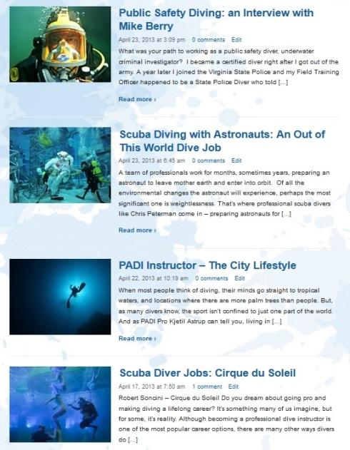 Jobs You Can Have as a Scuba Diver