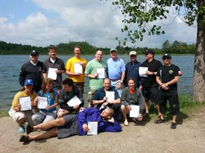 New Happy PADI Instructors Kick back after their Toronto IE in June