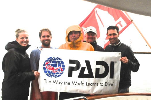 PADI Americas Instructors try cold water wreck diving in Sweden.