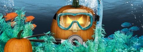 PADI Halloween Scuba Pumpkin