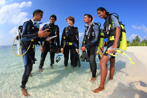 PADI Divers and Instructor