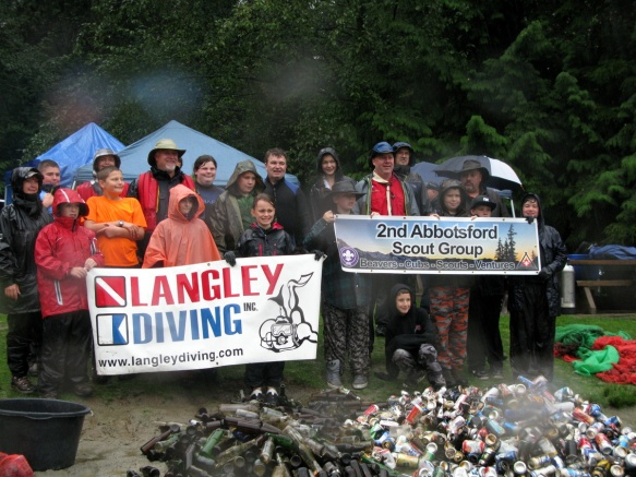 Langley Diving & Scouts Canada,  doing great things together