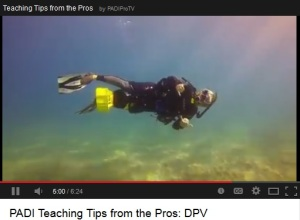 DPV Scuba Teaching Tips video from Maui Dreams