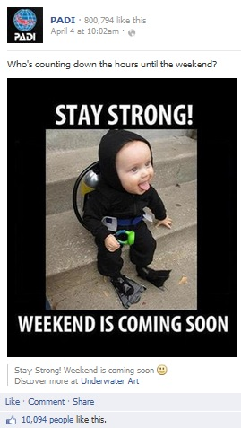 scuba baby weekend is coming soon