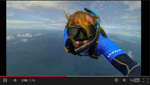 Scuba Skydiving video