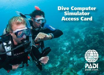 PADI  divePAL Dive Simulator Access Card