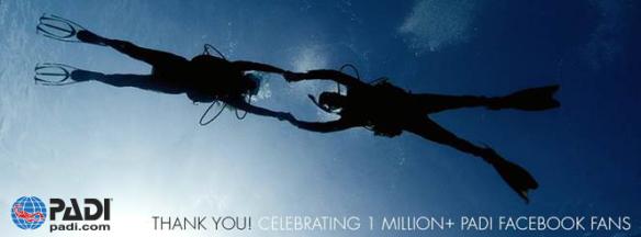 PADI Facebook page reaches 1 million