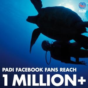 PADI 1 Million Facebook Fans