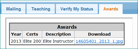 Verify PADI Elite Instructor Status