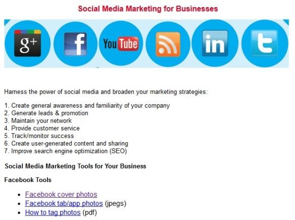 PADI social media marketing tools