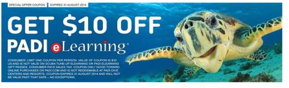 PADI eLearning discount