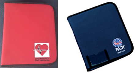 Deluxe-size PADI and EFR binders