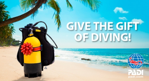 PADI give the gift of scuba diving