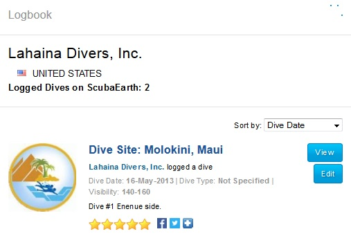 share dives from ScubaEarth on Facebook