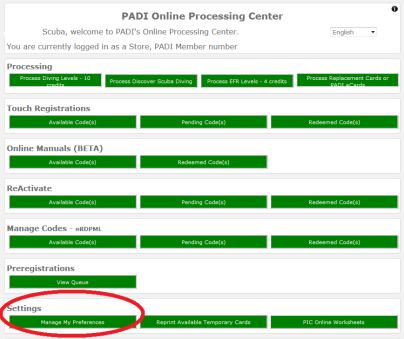 PADI Discover Scuba pre registration