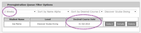 Discover Scuba pre registration