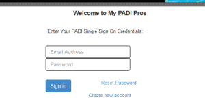 PADI Pros-SSO