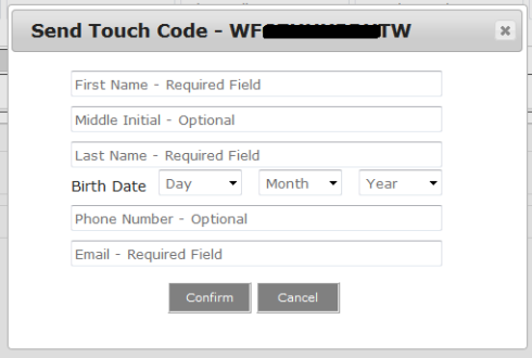How to send PADI eLearning Touch Code