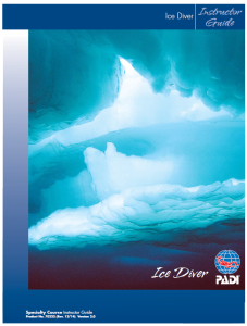 Revised PADI Ice Diver outline 2015
