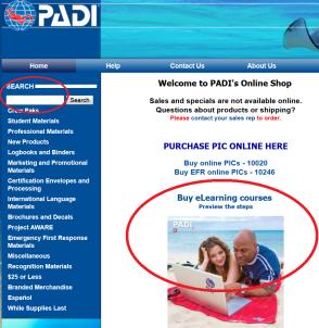 Buy PADI eLearning PADI Pros