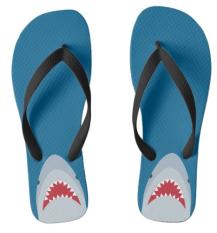 shark Jaws flip flops sandals
