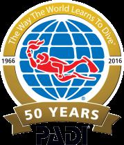 PADI_50th_logo